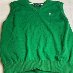 US Polo Assn Size XL Green Sweater Vest